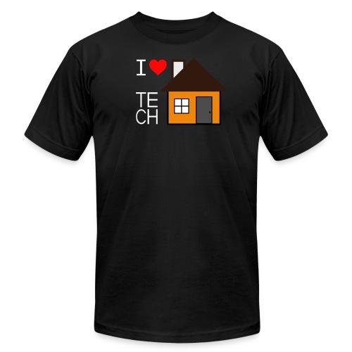 I Love Tech House T-Shirts - Men's Fine Jersey T-Shirt