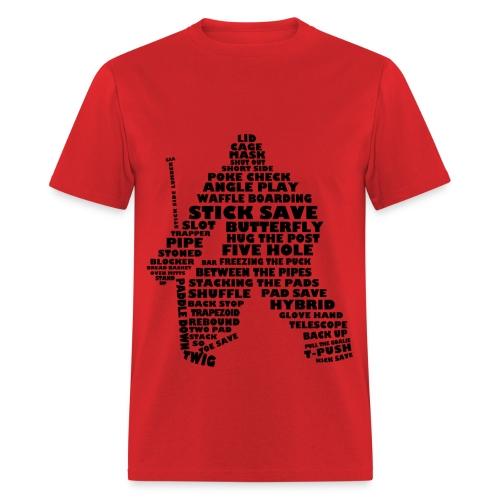 Hockey goalie typography - Men's T-Shirt