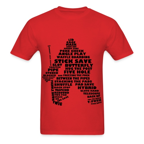 Hockey goalie typography - Men's T-Shirt