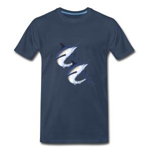 Twin Marlins - Men's Premium T-Shirt