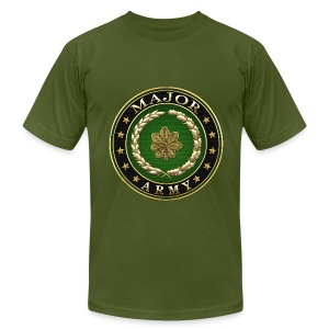 Major (MAJ) Rank Insignia 3D  - Men's Fine Jersey T-Shirt