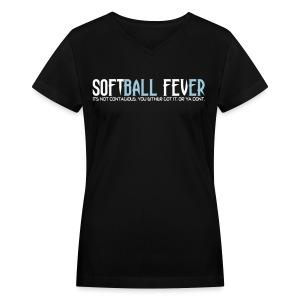 SOFTBALL FEVER - Women's V-Neck T-Shirt