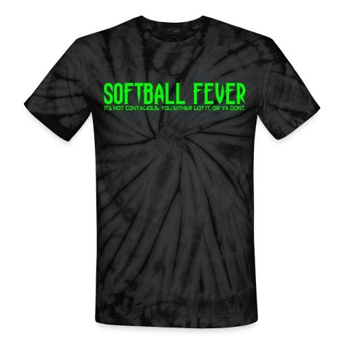 SOFTBALL FEVER - Unisex Tie Dye T-Shirt