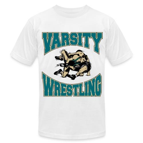 Varsity Wrestling - Men's Fine Jersey T-Shirt