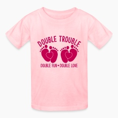 double trouble - double fun - double love Kids' Shirts