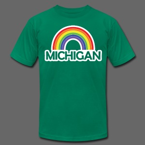 Kelly's Michigan Rainbow Shirt - Men's T-Shirt by American Apparel