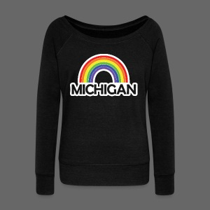 Kelly's Michigan Rainbow Shirt - Women's Wideneck Sweatshirt