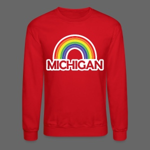Kelly's Michigan Rainbow Shirt - Crewneck Sweatshirt