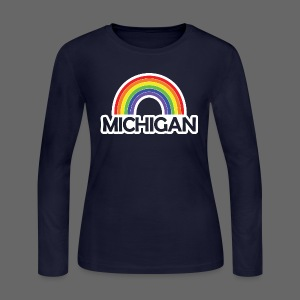 Kelly's Michigan Rainbow Shirt - Women's Long Sleeve Jersey T-Shirt
