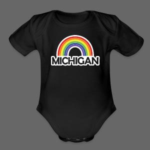 Kelly's Michigan Rainbow Shirt - Short Sleeve Baby Bodysuit