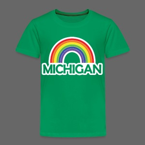 Kelly's Michigan Rainbow Shirt - Toddler Premium T-Shirt