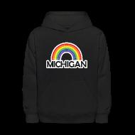 Sweatshirts ~ Kids' Hooded Sweatshirt ~ Kelly's Michigan Rainbow Shirt