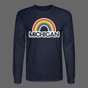 Kelly's Michigan Rainbow Shirt - Men's Long Sleeve T-Shirt