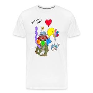 HDK Balloons Here Clown Tee - Men's Premium T-Shirt