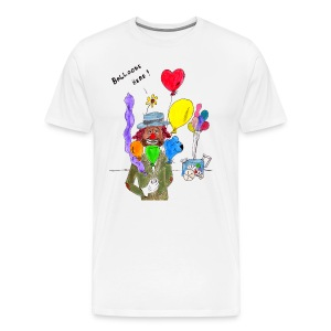 HDK Balloons Here Clown Tee - Men's Premium T-Shirt