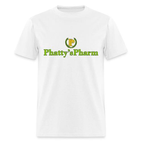 Phatty's Pharm Mens White T-shirt Green/Gold/Black print - Men's T-Shirt