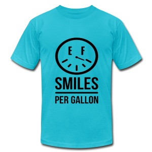 Smiles Per Gallon! - Men's T-Shirt by American Apparel