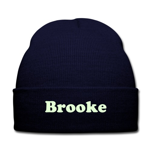 Ally Brooke Beanie Hat - Knit Cap with Cuff Print
