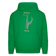 Hoodies ~ Men's Hooded Sweatshirt ~ I Love Sax Apparel & Collectibles