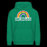 Hoodies ~ Men's Hooded Sweatshirt ~ Kelly's Michigan Rainbow