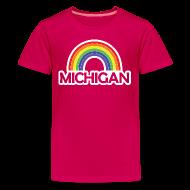 Kids' Shirts ~ Kids' Premium T-Shirt ~ Kelly's Michigan Rainbow