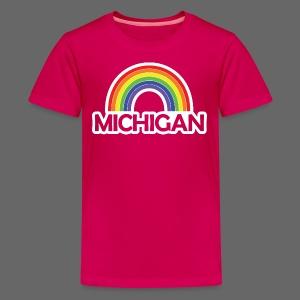 Kelly's Michigan Rainbow - Kids' Premium T-Shirt