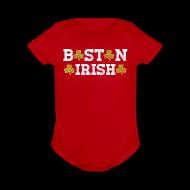Baby & Toddler Shirts ~ Baby Short Sleeve One Piece ~ Boston Irish