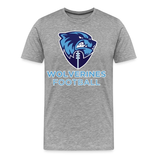 Wolverines Football & Logo back - Men's Premium T-Shirt