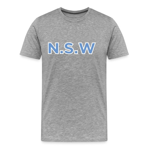 NSW & Logo back - Men's Premium T-Shirt