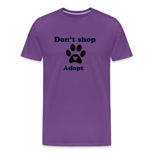 Don't shop  adopt - Men's Premium T-Shirt