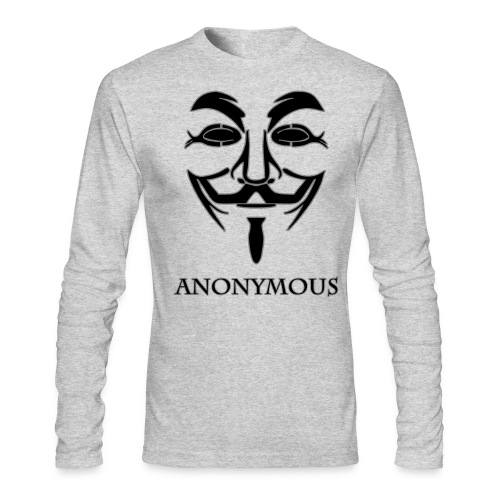 Anonymous Long Sleeve Shirt - Men's Long Sleeve T-Shirt by Next Level