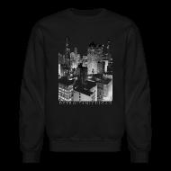Long Sleeve Shirts ~ Men's Crewneck Sweatshirt ~ Old Detroit Pic