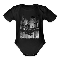 Baby & Toddler Shirts ~ Baby Short Sleeve One Piece ~ Old Detroit Pic