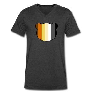 Men's V-Neck T-Shirt by Canvas - uber,uBear,scruff,gaybear,gay bears,gay bear,gay,cub,bears,bearpride,bearded,bear pride,bear gay,bear,LGBT