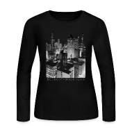 Long Sleeve Shirts ~ Women's Long Sleeve Jersey T-Shirt ~ Old Detroit Pic