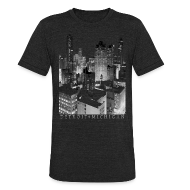 T-Shirts ~ Unisex Tri-Blend T-Shirt by American Apparel ~ Old Detroit Pic