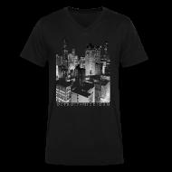 T-Shirts ~ Men's V-Neck T-Shirt by Canvas ~ Old Detroit Pic