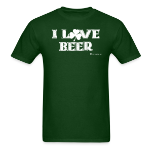 I Love Beer (Shamrock) Men's T-shirt - Men's T-Shirt