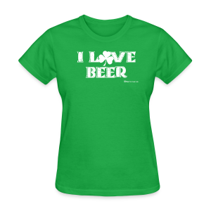 I Love Beer (Shamrock) Women's T-Shirt - Women's T-Shirt