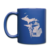 Mugs & Drinkware ~ Full Color Mug ~ Michigan RN