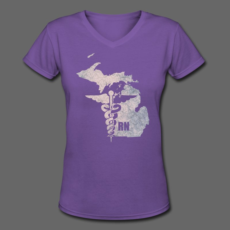 Michigan RN - Women's V-Neck T-Shirt
