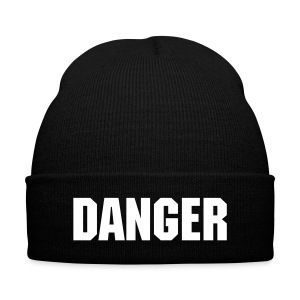 Danger Stocking  - Knit Cap with Cuff Print