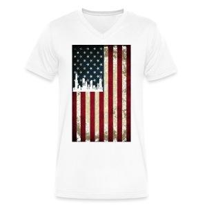Chicago USA Flag - Men's V-Neck T-Shirt by Canvas