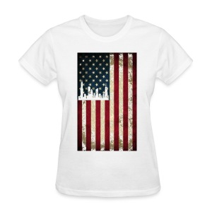 Chicago USA Flag - Women's T-Shirt
