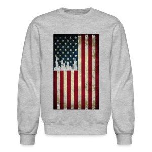 Chicago USA Flag - Crewneck Sweatshirt