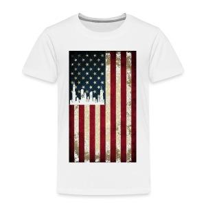 Chicago USA Flag - Toddler Premium T-Shirt