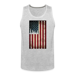 Chicago USA Flag - Men's Premium Tank