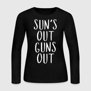 Sun's Out Guns Out - Country Closet Long Sleeve Shirts - Women's Long Sleeve Jersey T-Shirt