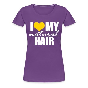 Yellow Heart Love My Natural Hair Premium T-shirt - Women's Premium T-Shirt