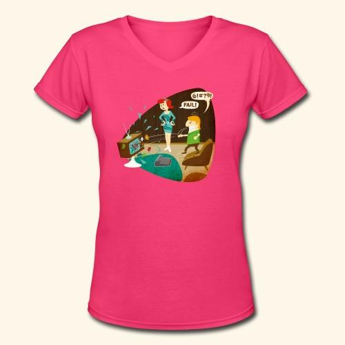 Fail! - Women's V-Neck T-Shirt